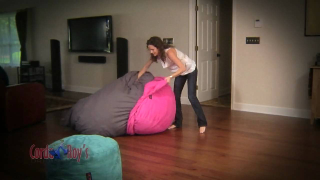 Cordaroys Bean Bag Chairs CordaRoy's Full Size Bean Bag Chair Bed Video - YouTube