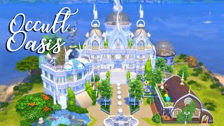 The Occult Oasis- A Mansion for ALL of your Occult Sims| The Sims 4 Realm of Magic Speed Build