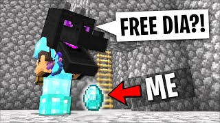 Trolling new minecraft friend disguised as a diamond with disguise plugin