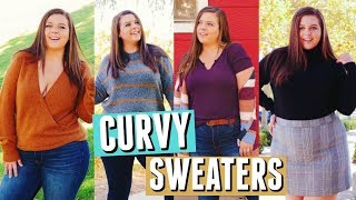 How to Style SWEATERS on a CURVY Body! - YouTube