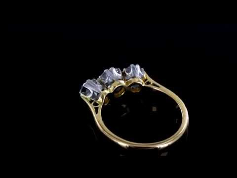 Browns Family Jewellers Antique Diamond Trilogy Ring