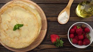 Тонкие блины на молоке — вкусный и простой рецепт на сковороде