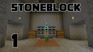 Stoneblock - EP1 - And So A New Adventure Begins - Modded Minecraft 1.12.2