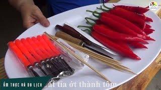Tổng hợp cách cắt tỉa ớt trang trí, dưa hấu thành giỏ hoa quả