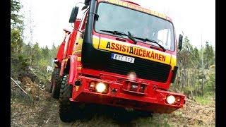 Mercedes 6x6 Recovery Truck VS Excavator - Arosbärgarna & Terribärgarn