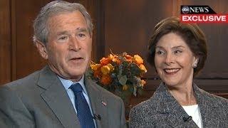 George W. Bush Interview 2013: President, Former First Lady Laura Bush Speak with Diane Sawyer