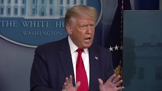 Trump defends retweeting video with misleading information about  covid-19