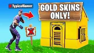 I Went UNDERCOVER in a GOLD ONLY Tournament! (Fortnite)