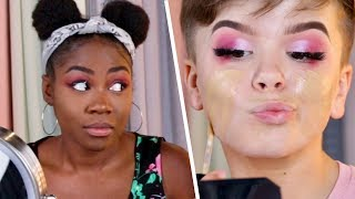Teen YouTuber Vs. Adult Makeup Challenge
