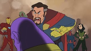 Thanos is Defeated - Avengers Infinity War Parody Animation - MOVIE SHENANIGANS