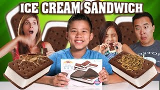 ICE CREAM SANDWICH MAKER with Worms & Crickets!!! DIY!