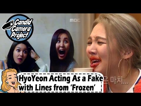 [Prank Cam Project] SeoHyun - Hyoyeon Acting As a Fake to Deceive SeoHyun 20170212