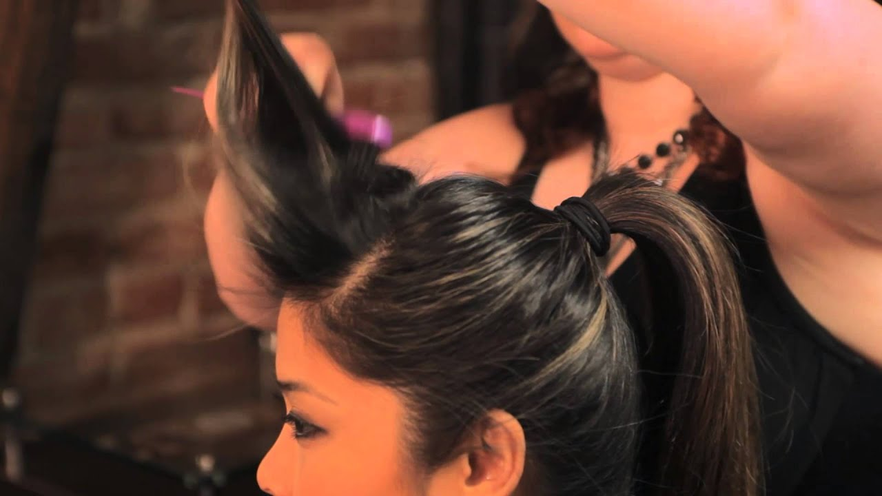 Rockabilly Hair Styles: How To Do The Rockabilly Ponytail Hairstyle : Braids