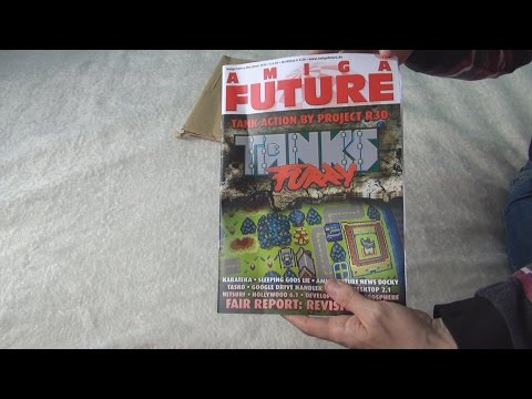 Unboxing of Amiga Future magazine Issue 120 in 3D