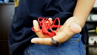 How To Permanently Untangle Your Earphones! - Cordskinz Review