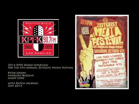 Zeitgeist Media Festival, KPFK Interview with Peter Joseph, Jason, Sharleen, 2014