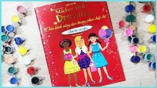 Đồ chơi dán hình trang điểm váy đầm búp bê Tập24 bữa tiệc vui nhộn Sticker dolly dress(Chim Xinh)