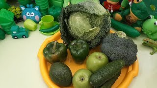 Learn Vegetables & Colors & Fruits Names Video for Kids