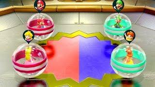Super Mario Party - Mario & Peach vs Luigi & Daisy - Minigames