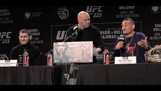 Khabib Nurmagomedov Says Max Holloway Has Been Drinking Beer, Max Says He Is Ready  (UFC 223)