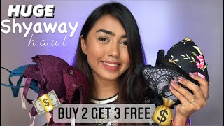HUGE SHYAWAY LINGERIE HAUL | BUY 2 GET 3 BRAS FREE OFFER | CashKaro