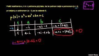 Hornerjev algoritem 8