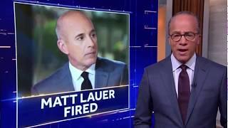 """""""NBC Nightly News"""" Matt Lauer Coverage Nov. 29, 2017"""