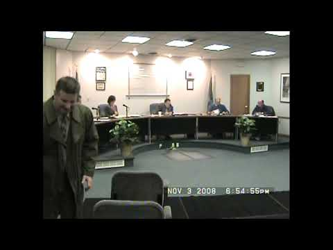 Rouses Point Village Board Meeting  11-3-08
