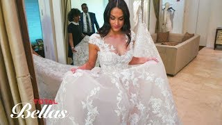 Nikki is jubilant while she tries on wedding dresses again: Total Bellas Preview Clip, July 8, 2018