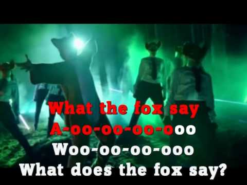 What does the fox say lyrics song - photo#32
