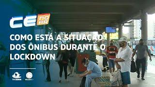Como está a situação dos ônibus durante o lockdown