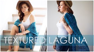 How to Knit a Beginner Boho Travel Shawl - Textured Laguna Wrap