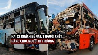 Hiện trường thảm khốc vụ 2 xe khách tông nhau ở Khánh Hòa khiến 1 người chết, 40 người nhập viện