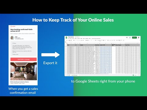 How to manage your online sales from your phone: Emails to Sheets by cloudHQ