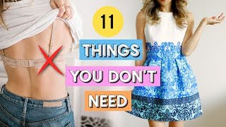 11 Things You Don't Need In Your Closet! Minimal Clothing Hacks!