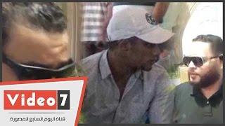 محمد رمضان ومجدى كامل وأحمد رزق وهانى مهنا فى جنازة نور الشريف     -