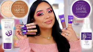 TESTING OUT RIMMEL LONDON'S STAY MATTE LINE | HIT OR MISS? DRUGSTORE MAKEUP! ohmglashes