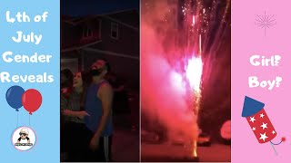 4TH OF JULY BABY GENDER REVEAL COMPILATION [ July 2018 ]