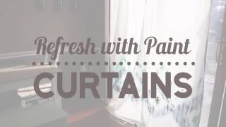 Refresh with Paint - Make Your Own Curtains