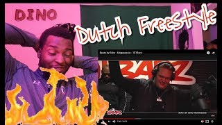 CRAZIEST DUTCH FREESTYLE EVER!! // Beats by Esko - Megasessie - 101Barz // REACTION!!