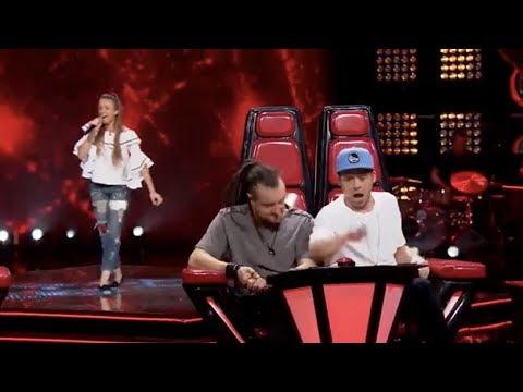 """Wiktoria Tracz   """"Rock&Rollin' Love"""" – Przesłuchania w ciemno – The Voice Kids Poland"""