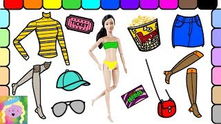 Play Barbie Dress Up | Barbie Goes To The Movies | Learn Names Of Colors And Clothes