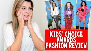 KIDS' CHOICE AWARDS FASHION REVIEW // Grace Helbig