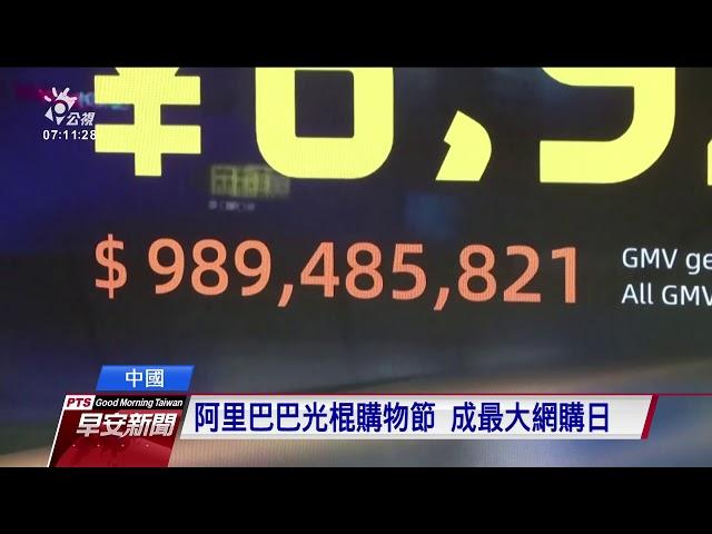 5億用戶搶買 陸雙11購物節業績破兆