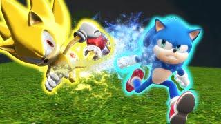 Modern Sonic V.S. Movie Sonic - The Race - ALTERNATE ENDING [Animation] ソニック v. ソニック