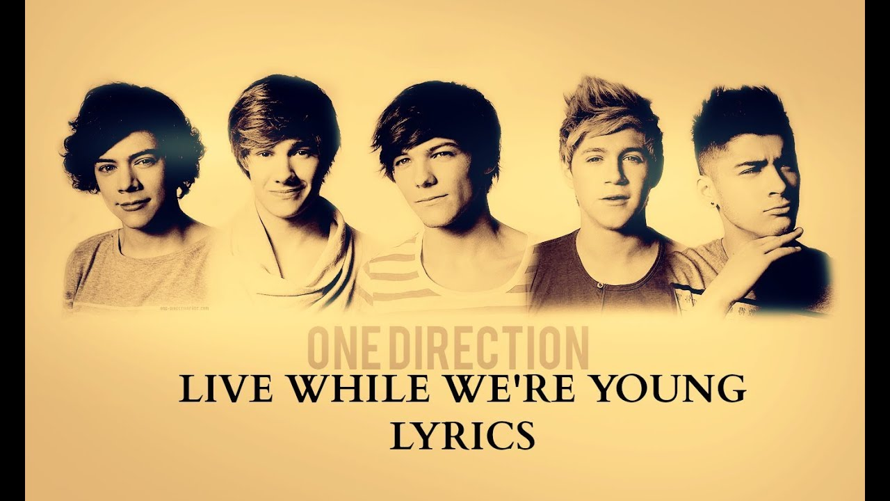 One Direction - Live While We're Young Lyrics HD - YouTube