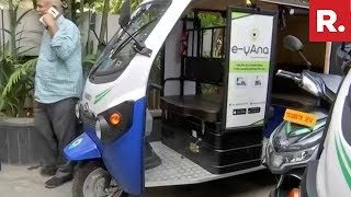 Hyderabad: Electric Taxis Introduced In Order To Reduce Ca..