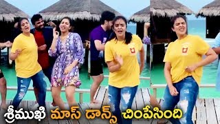 Bigg Boss Sreemukhi performs mass dance with friends at Ma..