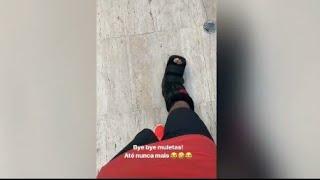 Neymar Da Adeus As Moletas E Posta Vídeo Caminhando.