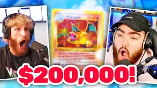 Logan Paul Opens my $200,000 Pokémon Booster Pack